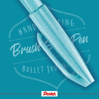 One of our new Brush Sign Pen colours is pale blue. What comes to your mind looking at this colour?⁣⁣ Product: Brush Sign Pen SES15C-S2, Pale Blue⁣⁣ ⁣ #pentel #pentel_eu #pentelarts #BRUSHSIGNPEN #brushpen #pinselstift ⁣#pinsel #handlettering #lettering #brushlettering #brushcalligraphy #colours #colourful #newbrushpens #new #pentelbrushpen #blau #wasserblau #paleblue #blue ⁣⁣ #calligraphy #lettering #news #newpens #colour #pentelbrushsignpen
