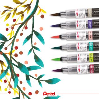 The six new Colour Brush colours are perfect for watercolour florals.⁣ created by: @bibis_bloghuette⁣ products: Colour Brush XGFL⁣ ⁣ #pentel #pentel_eu #pentelarts #pentelcolourbrush #colourbrush #brushpen #pentelbrushpen #newcolours #colours #colourful #new #pinselstift #pentelcolourbrush #watercolour #aquarell #blumen #blumenzeichnung #florals #nature #natur #aquarellblumen