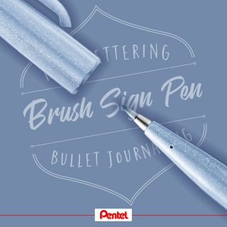 One of our new Brush Sign Pen colours is grey blue. What comes to your mind looking at this colour?⁣ Product: Brush Sign Pen SES15C-S3, Grey Blue⁣⁣ ⁣ #pentel #pentel_eu #pentelarts #BRUSHSIGNPEN #brushpen #pinselstift ⁣#pinsel #handlettering #lettering #brushlettering #brushcalligraphy #colours #colourful #newbrushpens #new #pentelbrushpen #graublau #greyblue #calligraphy #lettering #news #newpens #colour