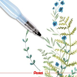 Flowers are blossoming right now. Which flower would you like to paint? Product: Aquash Watertankbrush FRH-F, fine  #pentel #pentel_eu #pentelarts #pentelaquash #watertankbrush #waterbrush #watercolour #watercolor #aquarell #flower #aquarelleart #aquarellepainting #painting #watercolourflower #watercolourpainting #watercolorpainting #artwork #nature #natur #loveflowers #blumen