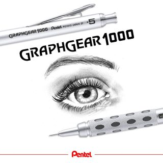 Happy World Graphics Day! Enjoy your day and be creative! What have you drawn today?⁣ Product: Graphgear 1000 PG1015-A 0.5 mm, also available in 0.3, 0.7 and 0.9 mm version⁣ ⁣ #pentel #pentel_eu #pentelarts #pentelgraphgear1000 #pentelgraphgear #mechanicalpencil #automaticpencil #pencil #druckbleistift #bleistiftzeichnung #pencilart #pencilartwork #handmade #eye #auge #augenzeichnung #graphics #worldgraphicsday