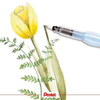 Growing flowers is a beautiful thing to witness in spring. Which one is your favourite flower?⁣ Product: Aquash Watertankbrush FRH-B, broad⁣ ⁣ #pentel #pentel_eu #pentelarts #pentelaquash #watertankbrush #watercolour #aquarell #aquarellmalerei #tulpe #tulip #tulips #blumen #flowers #nature #natur #naturmalerei #natureart #flowerdrawing #tulipdrawing #botanicalillustration
