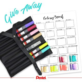 It's Giveaway time! Would you like to try our 6 new Colour Brush colours? Follow us, like this post, tell us which one is your favourite and get the chance to win a set of the 6 new colours + 1 Aquash water brush. Tag a friend, if you like. Three winners will be chosen randomly. Closes on July, 2nd 2021, 10am. Good luck! Open to participants living in Europe. This giveaway is in no way sponsored, administered by or associated with Instagram.  Products: Colour Brush GFL -166 (violet), -161 (burgundy), -165 (coral pink), -163 (pale brown), -164 (lime green), -162 (emerald green) Aquash Brush water brush FRH Edit: The winners have been chosen and contacted. Thank you for participating!  #WIN #pentel #pentel_eu #pentelarts #gewinnspiel #colourful #colour #farbe #brushpen #brushlettering #handlettering #set #new #news #newproducts #GIVEAWAY #pentelcolourbrush #colorbrush #colourbrush #waterbrush #watertankbrush