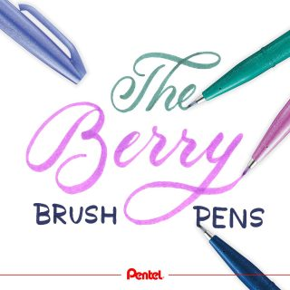 Our Brush Sign Pen Berry Set includes 4 colours: blue black, blue violet, pink purple and turquoise green.⁣Which is your favourite one?⁣ Lettering: @robertbree.de⁣ Product: Brush Sign Pen SES15B-4⁣ ⁣ #pentel #pentel_eu #pentelarts #brushsignpen #brushpen #pentelbrushpen #berryset #set #pentellettering #berry #bunt #colourful #colour #handlettering #brushlettering #lettering #pentellettering #pentelbrushsignpen