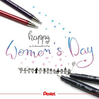 Happy Women's Day! What are you doing today?⁣ Products: ⁣ Hybrid Dualmetallic K110⁣ Pointliner Fineliner S20P⁣ ⁣ #pentel #pentel_eu #pentelarts #fineliner #pointliner #pentelpointliner #hybriddualmetallic #glitterpen #glitzerstift #glitzer #glitter #women #frauentag #womensday #worldwomensday