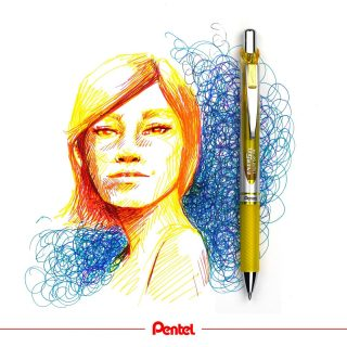 Our quick drying Energel pens are not only for writing, you can also use them for drawings! Have you tried drawing with Energel Pens yet? created by @bibis_bloghuette Products: Energel BL77  #pentel #pentel_eu #pentelenergel #energel #gelpen #gelpendrawing #drawing #drawings #woman #frau #drawingfaces #portrait #portraitart #peopledrawing #peoplesketching #drawingpractice #penart #gelpenart #art