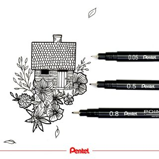 Art is whatever you want it to be. created by @bibis_bloghuette Product: Pointliner Fineliner S20P  #pentel #pentel_eu #pentelarts #pentelpointliner #pointlinerfineliner #fineliner #urbansketching #haus #house #flowers #blumen #mono #monochromatic #blackandwhite #finelinerart #finelinerdrawing #blackpendrawing