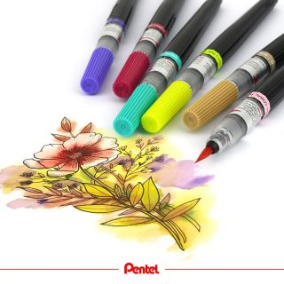 To create floral art, you can combine the new Colour Brush colours with our Pentel Pointliner with permanent ink. Which flower is your favourite?⁣ created by @bibis_bloghuette⁣ Product: Colour Brush XGFL⁣ ⁣ #pentel #pentel_eu #pentelarts #pentelcolourbrush #colourbrush #brushpen #pentelbrushpen #newcolours #colours #colourful #new #pinselstift #pentelcolourbrush #watercolour #art #aquarell #blumen #blumenzeichnung #florals #flower #spring #nature #natur #frühling #aquarellblumen