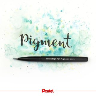 Our new Brush Sign Pen Pigment is waterproof. It can be used for outlines and in combination with watercolour painting. Product: Brush Sign Pen Pigment SESP15-AX, black  #pentel #pentel_eu #pentelarts #brushsignpen #brushsignpenpigment #wasserfest #waterproof #handlettering #brushlettering #pentellettering #pigment #pigmentink #watercolourlettering #watercolour #pentelbrushpen #brushpen