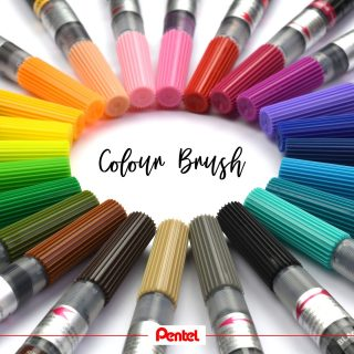 24 colours of our Colour Brushes are now available. Ideal for Watercolour and Brush Lettering. Have you tried them yet?  If not, maybe your chance will come, there might be a give away soon. Products: Colour Brush GFL  #pentel #pentel_eu #pentelarts #pentelcolourbrush #colourbrush #watercolour #watercolor #brushlettering #lettering #colours #color #newcolours