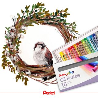 Today is Draw-A-Bird-Day. Have you tried it yet?⁣ created by @bibis_bloghuette⁣ Product: Oil Pastels PHN⁣ ⁣ #pentel #pentel_eu #pentelarts #sketch #creative #kreativ #ölpastellkreide #oilpastel #oilpastels #oilpastelart #pastel #instaart #brown #painting #drawing #drawabirdday #vogelzeichnung #kunst #art #sparrow #spatz #sperling