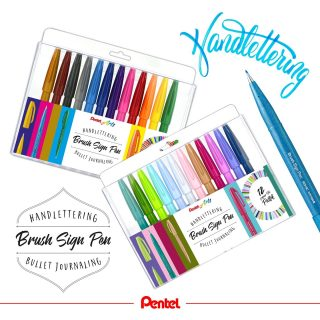 We've now got two big sets of our Brush Sign Pens: one with the 12 new colours and one with the 12 basic colours. Product: Brush Sign Pen SES15-12 (basic colours), SES15C-12 (pastel colours)  #pentel #pentel_eu #pentelarts #brushsignpen #brushpen #pentelbrushpen #set #handlettering #brushlettering #letteringart #lettering #pastell #pastel #pastelset #pastellfarben #basic #bunt #colourful #pentellettering #pentelbrushsignpen