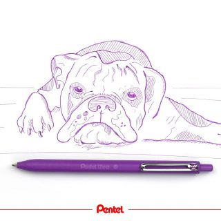 When you are tired from school, studies or work, try making it more colourful.  Product: iZee ballpointpen BX470 (retractable version) created by @dianasoriat  #pentel #pentel_eu #iZee #Pentelizee #ballpointpen #kugelschreiber #ballpointpenart #penart #pen #ballpointpendrawing #colours #colourful #Schule #Studium #BTS #Backtoschool #lazy #hundezeichnung #animals #animaldrawing #doglover #dog #hund