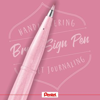 One of our new Brush Sign Pen colours is pale pink. What comes to your mind looking at this colour?⁣ Product: Brush Sign Pen SES15C-P3, Pale Pink⁣⁣ ⁣ #pentel #pentel_eu #pentelarts #BRUSHSIGNPEN #brushpen #pinselstift ⁣#pinsel #handlettering #lettering #brushlettering #brushcalligraphy #colours #colourful #newbrushpens #new #pentelbrushpen #rosa #rose #pink #palepink⁣ #calligraphy #lettering #news #newpens #colour #pentelbrushsignpen